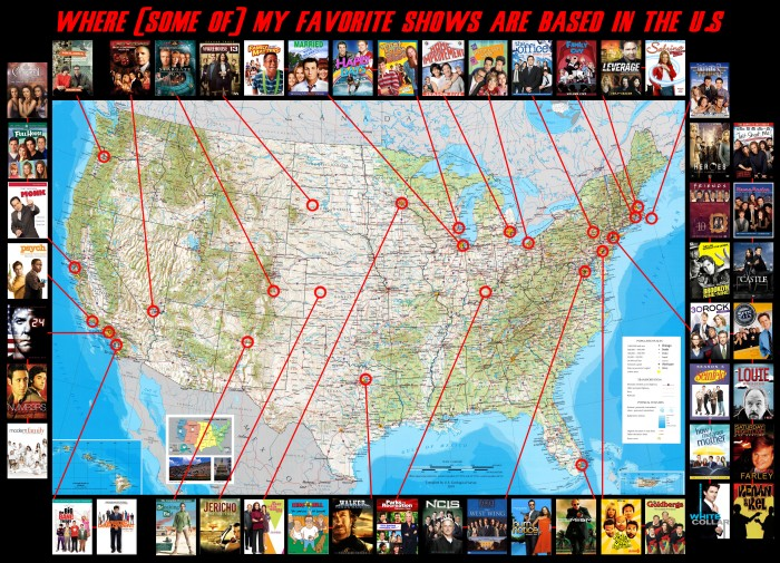 TV Shows Map