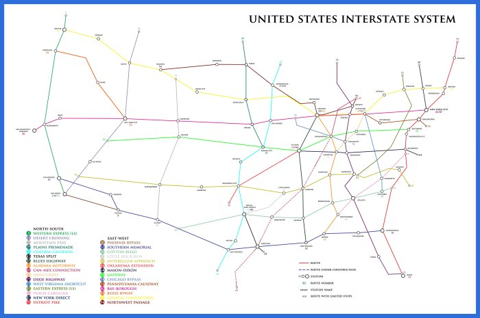 US Interstate Map