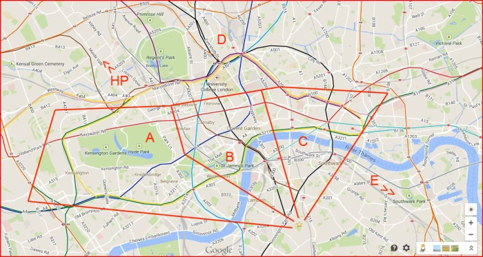 London Tourist Zones