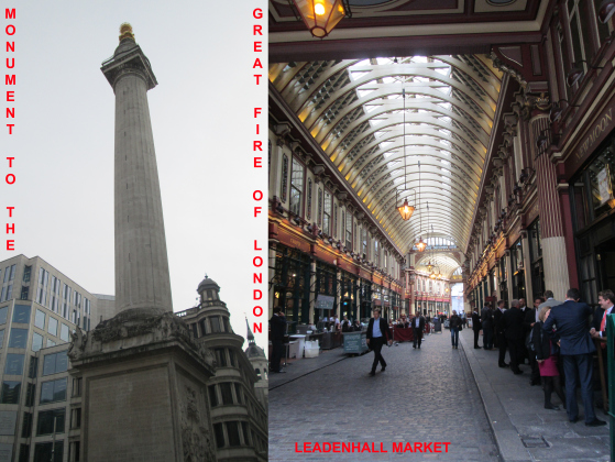 Monument and Leadenhall Market