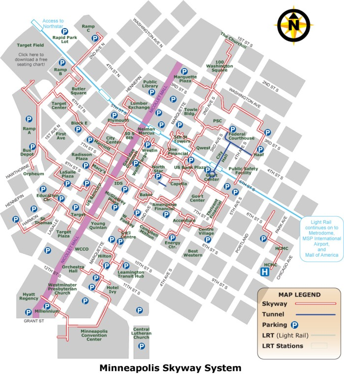 Skyway map-minneapolis