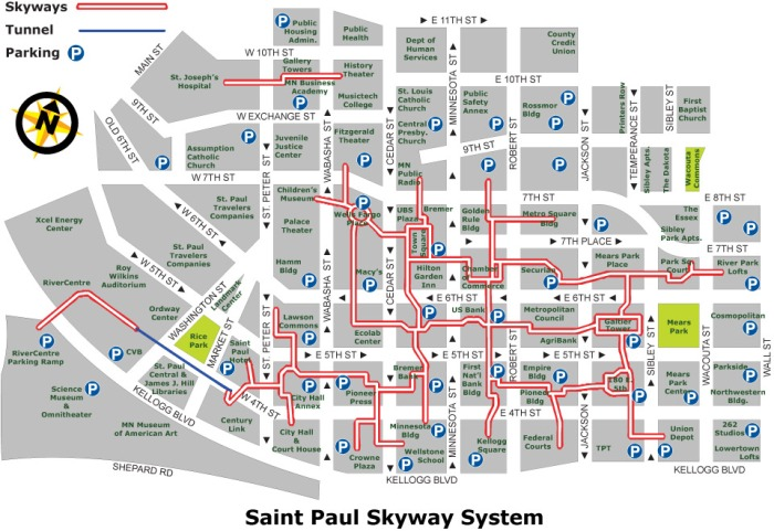 Skyway map-StPaul