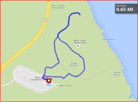 West Thumb Geyser Basin Walk 9/8