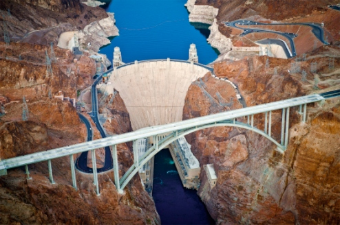 Hoover Dam Bird's Eye