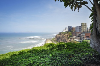 Miraflores Town landscapes in Lima, Peru, South America