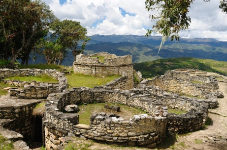 Peru, Kuelap matched in grandeur only by the Machu Picchu, this ruined citadel city in the mountains near Chachapoyas. Constructed AD 900 and 1100, is made up of milions of cubic feet and stones